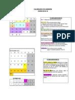 Calendario Admision WEB 2013 14