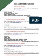 Vacantes Primaria 17 Junio 2013