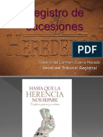 Registro de sucesiones - Herederos