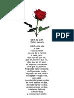 ODA AL MAR Pablo Neruda