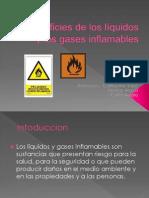 Superficies de los líquidos y los gases inflamables
