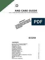 Asko d3250 Dishwasher Manual