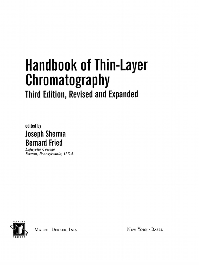 6d80677a2bf Handbook of Thin Layer Chromatography