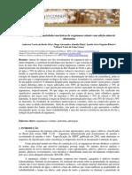Avaliação das propriedades mecânicas de argamassa colante com adição mineral