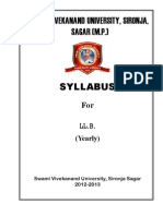 Llb Sylabus at Sagar University