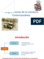 Rasgos y temas de la Literatura Contemporánea