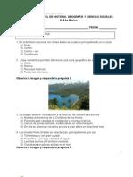 Evaluación de Nivel Historia Geografía y CS para  5° IGC