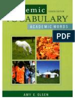 Academic Vocabulary- Academic