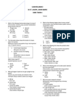 Ujian Bulanan 2 Sains Section A