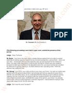 Jackson V AEG Live Transcripts of July 18th Dr Peter Formuzis (Ph.D in Economics)
