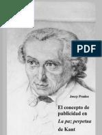 El Concepto de Publicidad en La Paz Perpetua de Kant