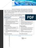 Vacancy Report July 2013