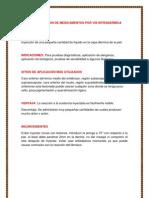 ADMINISTRACION DE MEDICAMENTOS POR VÍA INTRADERMICA