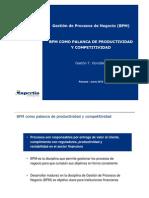 BPM Palanca de Productividad y Competitividad