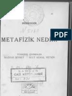 Martin.Heidegger.Metafizik.Nedir