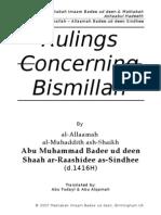 Ahkaam Basmallah - Imam Badee Ud-Deen
