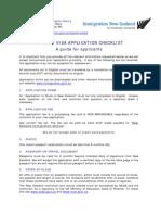 Student Visa Checklist