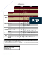 4C CBT Study Schedule