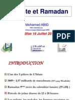 Diabète et Ramadan M.ABID 2013