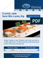 Citibank Dining Special Offers