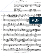 Duo for Vibraphone and Marimba Score