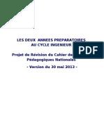 projet de CNPN modifié_Deux années Préparatoires_Juin 2013