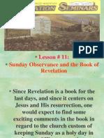 Lesson 11 Revelation Seminars -Sunday Observance and the Book of Revelation