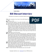 Bill Stewart Jazz Interview