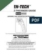 CENTECH Coating Thickness Gauge Manual