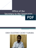 SB Secretary Office Report 2013