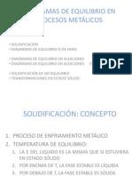 DIAGRAMAS DE EQUILIBRIO EN PROCESOS METÁLICOS1