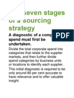 The Seven Stages of a Sourcing Strategy
