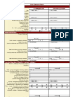 Mortgage Costing Sheet