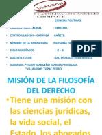 MISIÓN DE LA FILOSOFÍA DEL DERECHO   ppt NICOLAZA