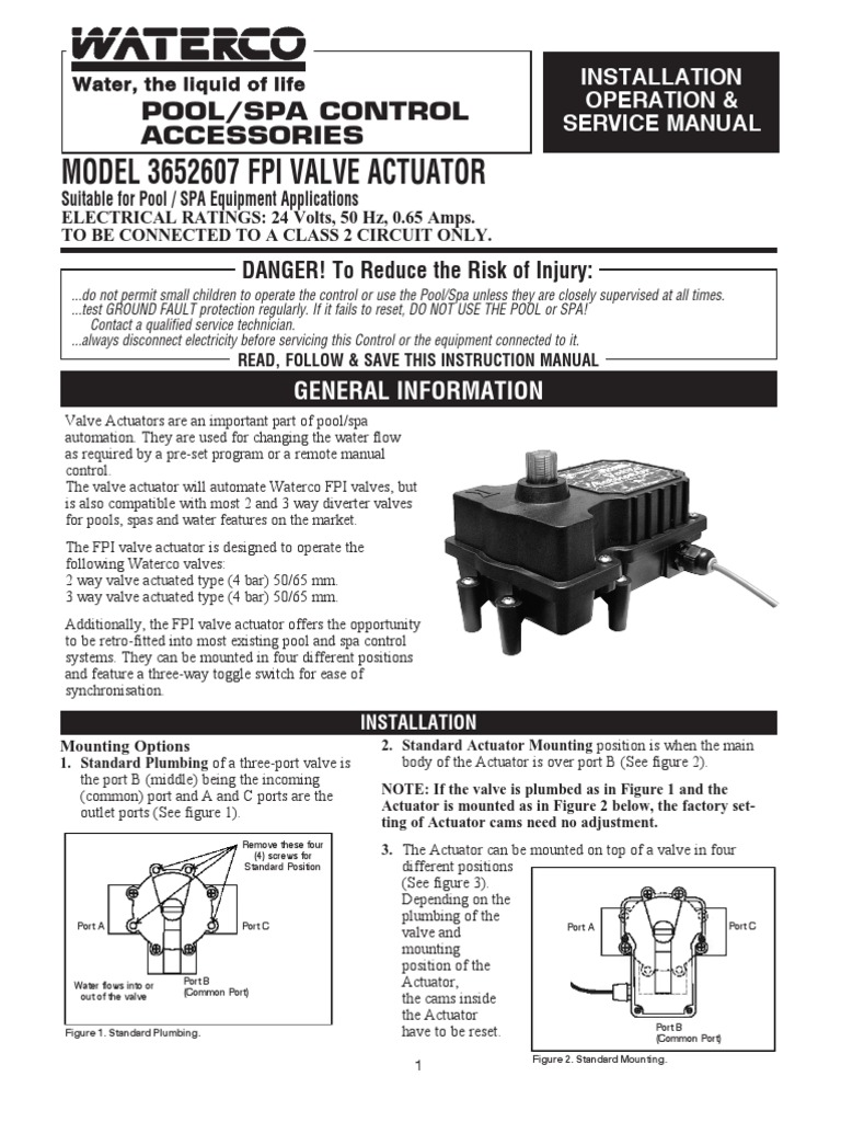 3652607 Fpi Valve Actuator Manual Switch Three Way Positions