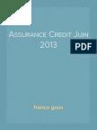 Assurance Credit Juin 2013