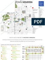 Houston Downtown Map With GreenLink Route