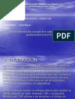 Bases y Filosofia Del Concepto de La Administracion de Productividad Total