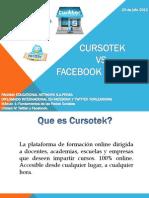 Cursotek vs Facebook y Twitter