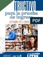 Instructivo Prueba Ingreso Sept2013 Feb2014