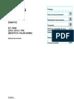 s71500 Cpu1513 1 Pn Manual Es-ES Es-ES