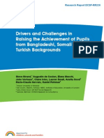 Drivers and Challenges in Raising Achievements of Somali, Turkish and Bangladheshi Pupils