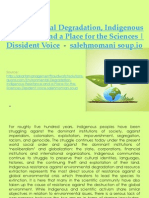 Environmental Degradation Indigenous Resistance and a Place for the Sciences Dissident Voice    salehmomani soup