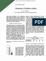 Pathogenesis of Diabetes Mellitus