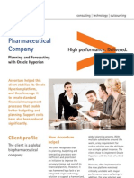 Accenture Global Pharmaceutical and Company Planning Forecasting With Oracle Hyperion