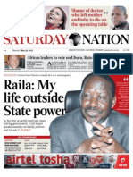 Saturday Nation 25th May 2013