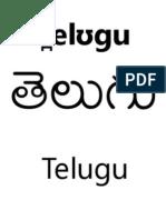 Telugu Script Book | sarvabhashin