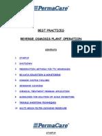 Best Practises Reverse Osmosis Plant Operationro Plant