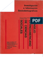 Investigación e información Sociodemograficas
