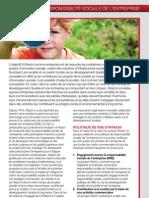 Responsabilité sociale de l'entreprise (RSE) - Brochure d'entreprise